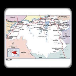 mapa edo bolivar